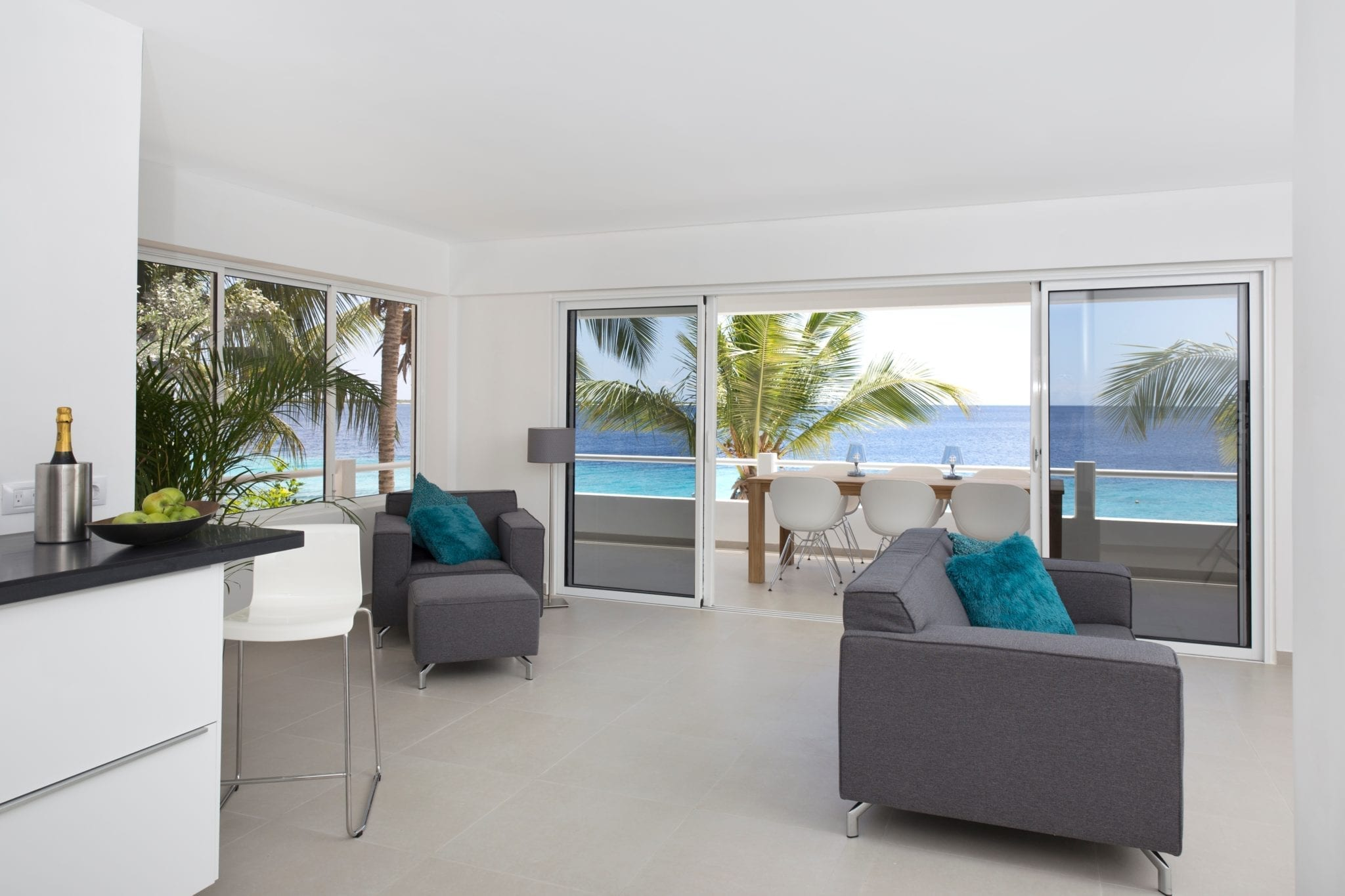 Luxury One Bedroom Terrace Apartment One Ocean Boutique Apartments Bonaire
